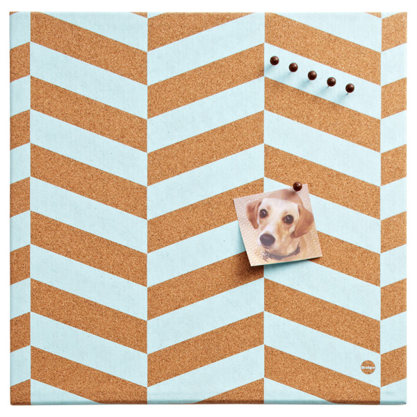 Chevron Cork Board Azul
