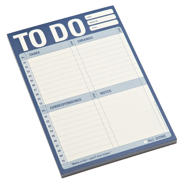 To-Do Notepad Blue