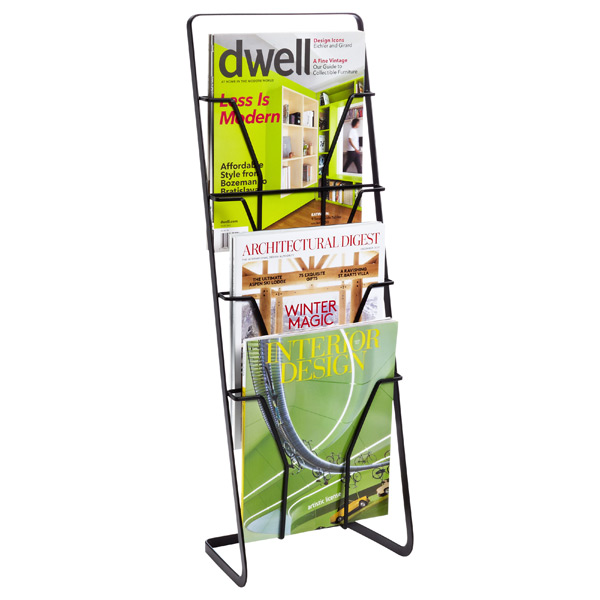 Tower Magazine Stand Black