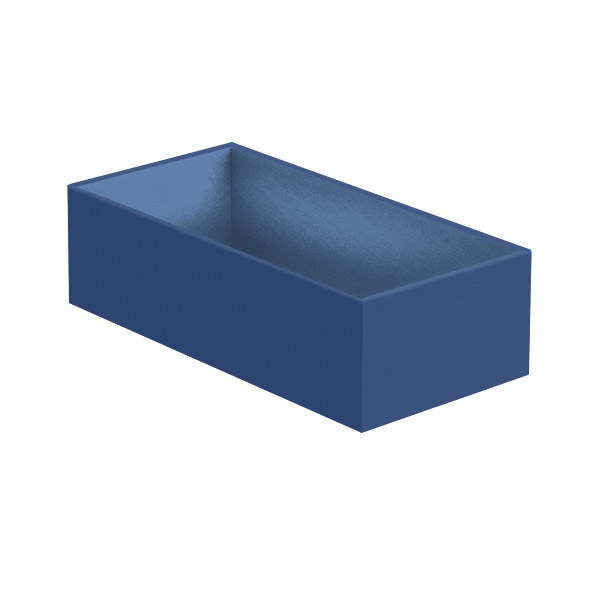 Narrow Open Drawer Organizer Indigo