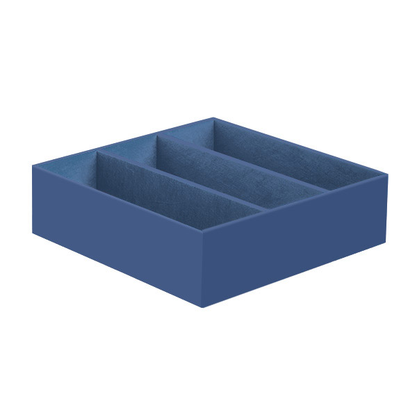 3-Section Drawer Organizer Indigo