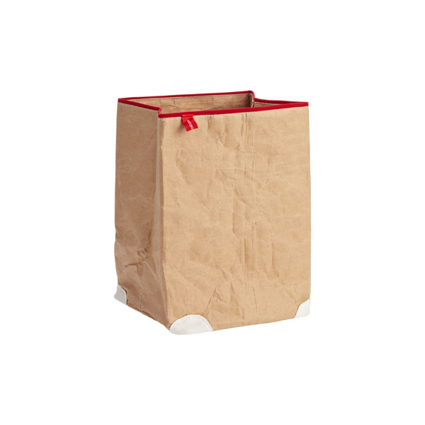 Medium Paper Bin Natural/Red