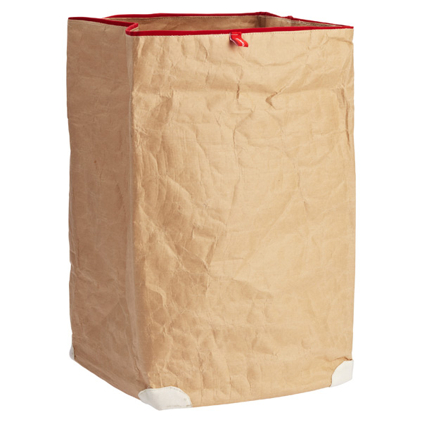 Large Paper Bin Natural/Red