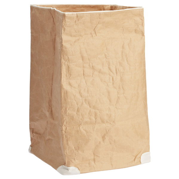 Large Paper Bin Natural/White
