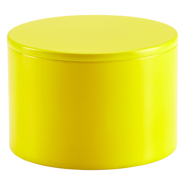 Round Lacquered Box Yellow