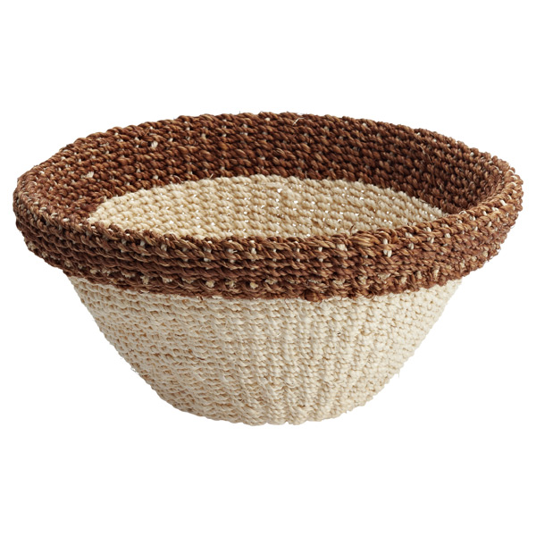 Round Tahiti Bowl Natural/Brown
