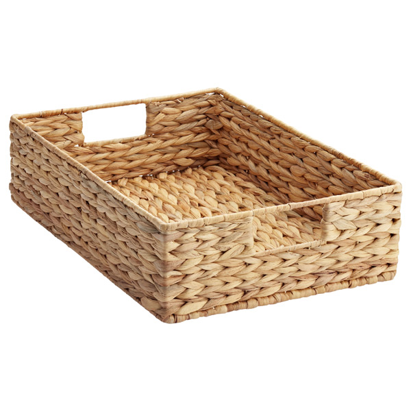 Large Water Hyacinth Tray Natural