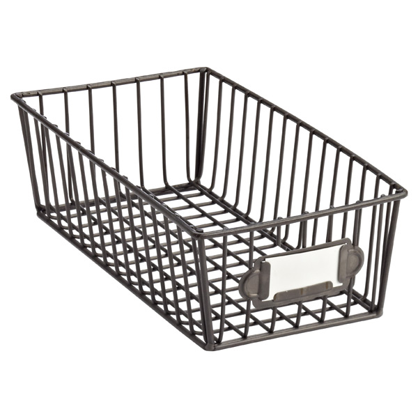 Small Wire Storage Basket The Container Store Rh Containerstore Com Wire  Storage Cart With Baskets Lined