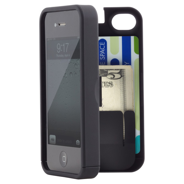 iPhone® 4S Pocket Case & Mirror Black