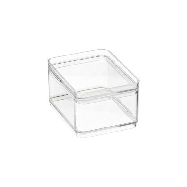 Shallow Mini Stackable Rectangle Clear