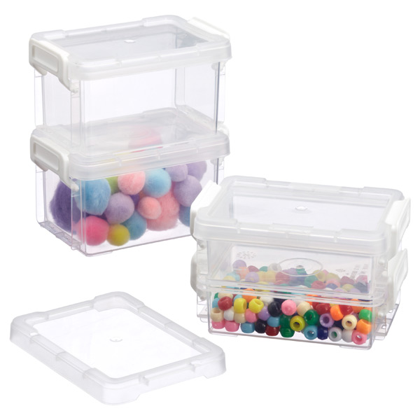Iris Mini Latch Boxes The Container Store