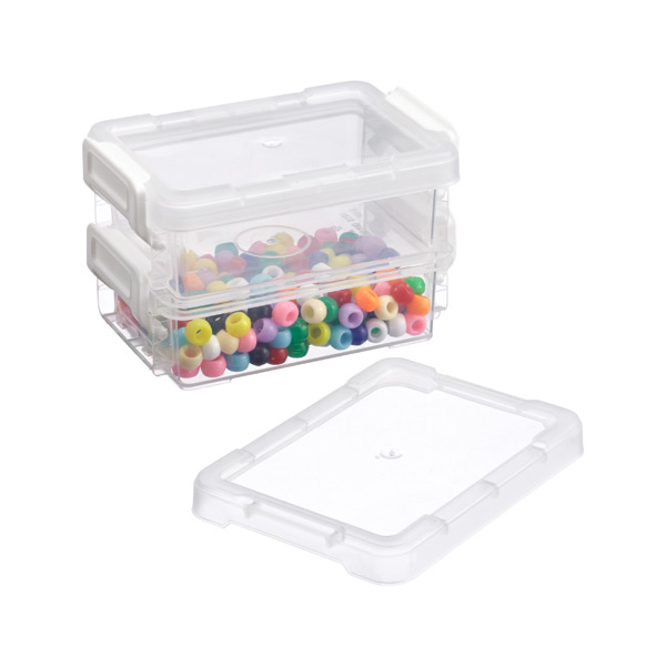 Shallow Mini Latch Box Clear Pkg/2