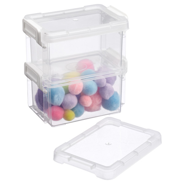 Deep Mini Latch Box Clear Pkg/2