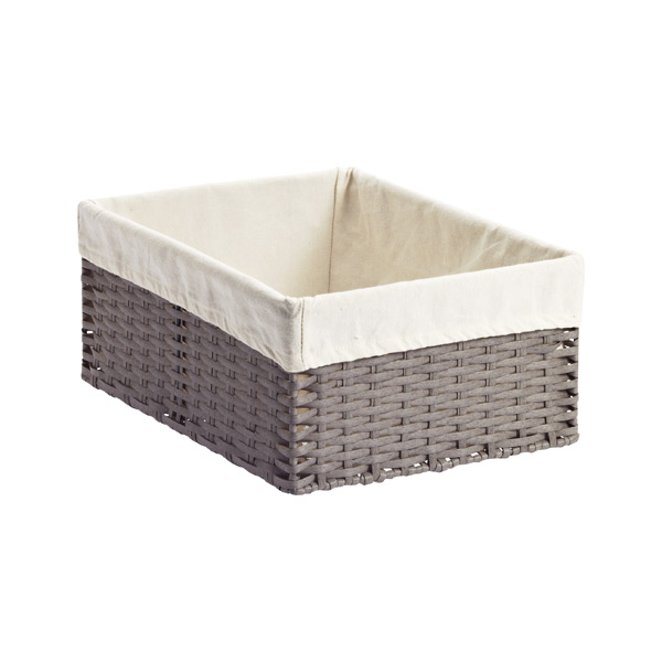 5256eeaa9f5 Grey Montauk Woven Rectangular Storage Bins