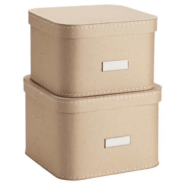 Bigso™ Oskar Boxes Natural Set of 2