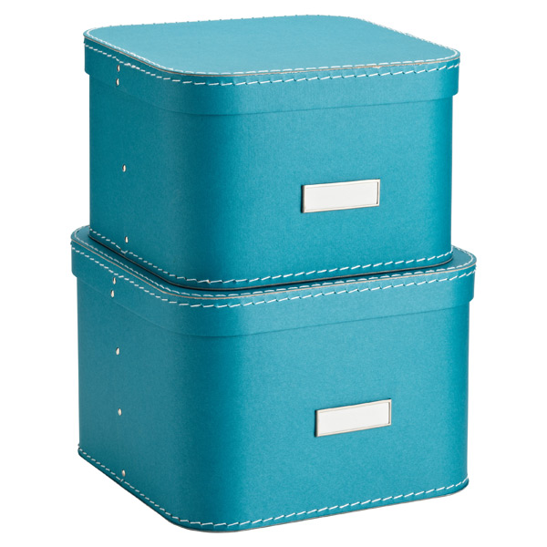 Bigso™ Oskar Boxes Turquoise Set of 2