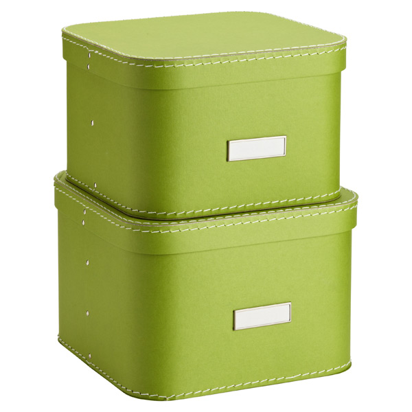 Bigso™ Oskar Boxes Green Set of 2