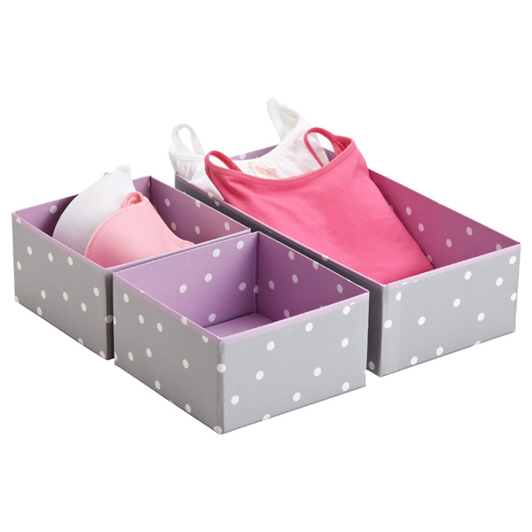 Purple Pippi Drawer Organizers