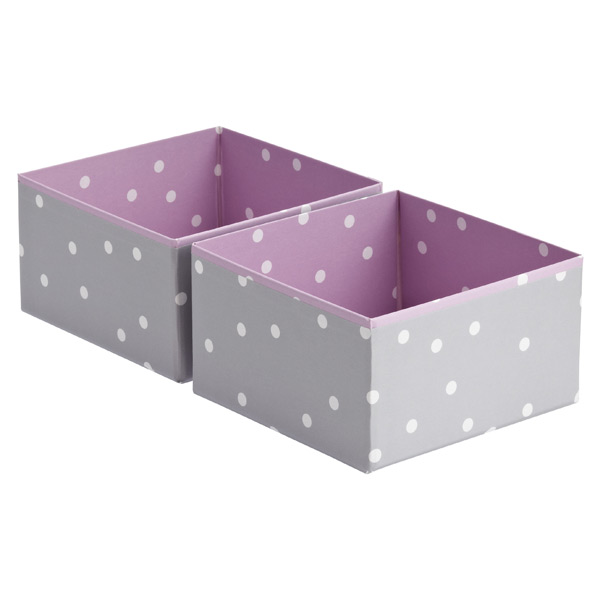 Bigso™ Pippi Drawer Organizer Purple Pkg/2