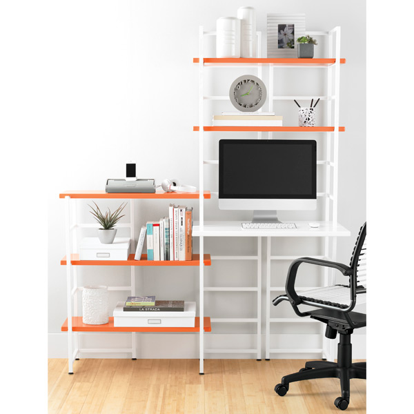 White Connections Extended Desk Shelf Roll Over To Zoom