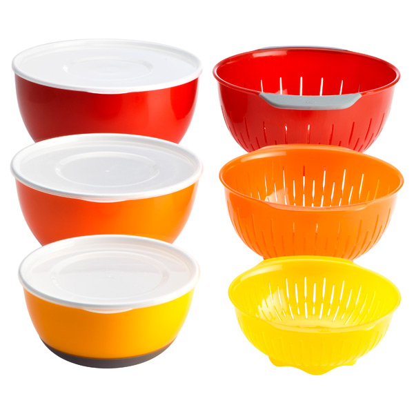 9-Piece Nesting Bowl & Colander Set Multi