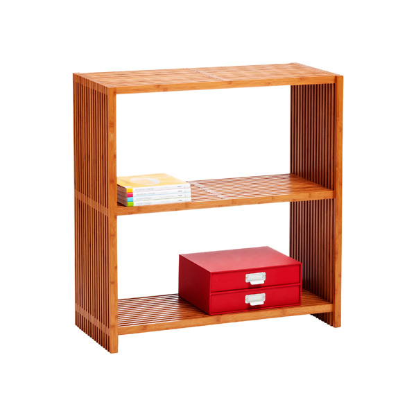 Classic Lines 3-Tier Bookcase Bamboo