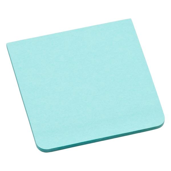 3M Post-it® Full-Adhesive Notes Aqua Wave Pkg/2
