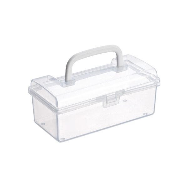 Small Mini Storage Box w/ Handle Clear