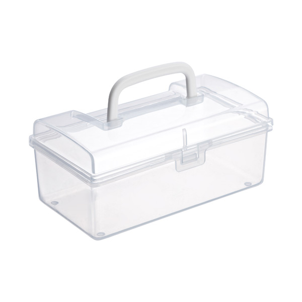 Medium Mini Storage Box w/ Handle Clear