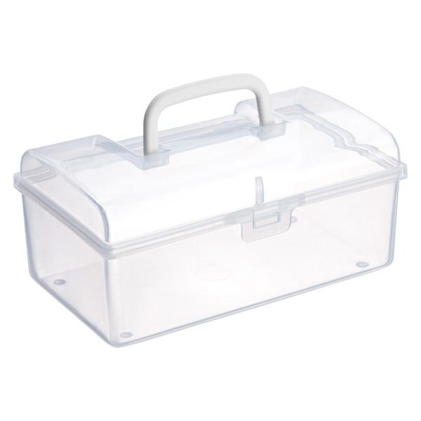 Large Mini Storage Box W/ Handle Clear
