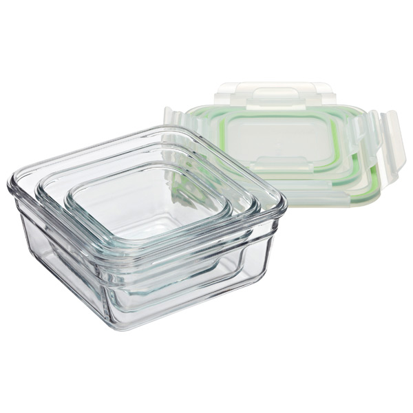 Glasslock Food Storage Container Sets Gorgeous Glasslock Square Food Containers With Lids The Container Store