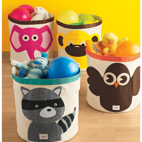 3 Sprouts Raccoon Canvas Toy Storage Bin The Container Store