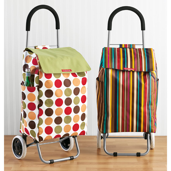 striped shopping cart the container store. Black Bedroom Furniture Sets. Home Design Ideas
