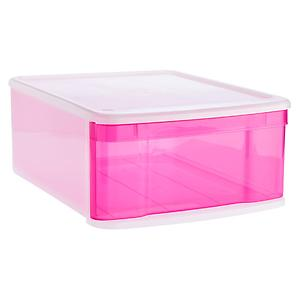Large Tint Stacking Drawer Pink