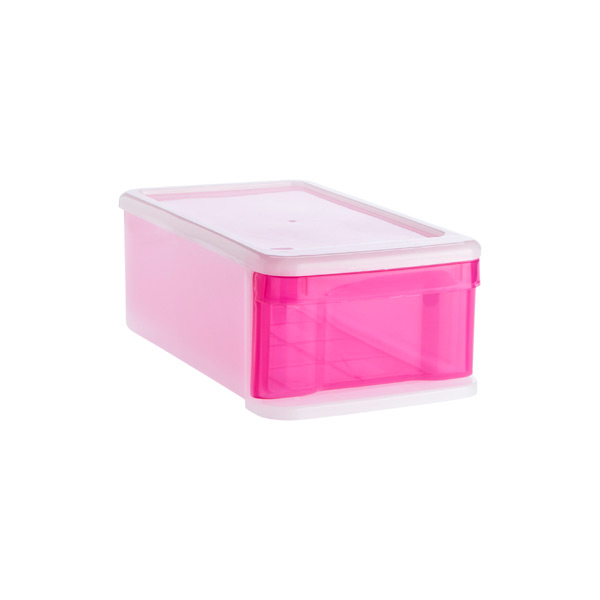 Small Tint Stacking Drawer Pink