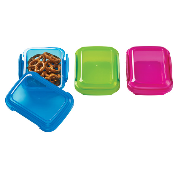 6.7 oz. Colorful Klip-It® Snack Pack Boxes