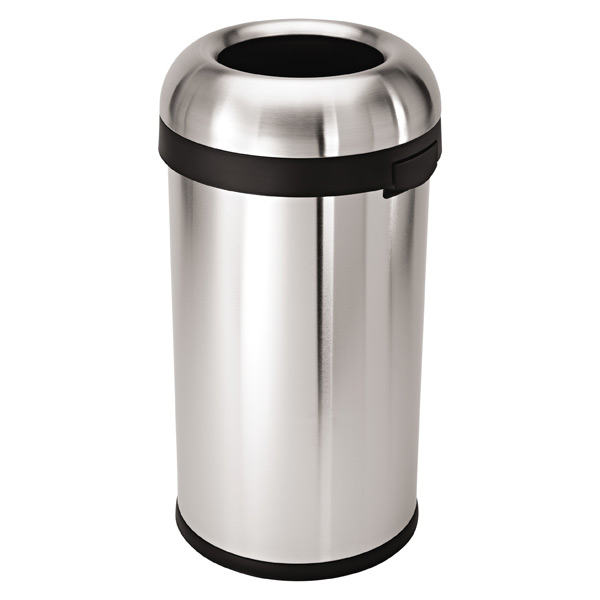 simplehuman® 15.8 gal. Stainless Steel Bullet Open Can