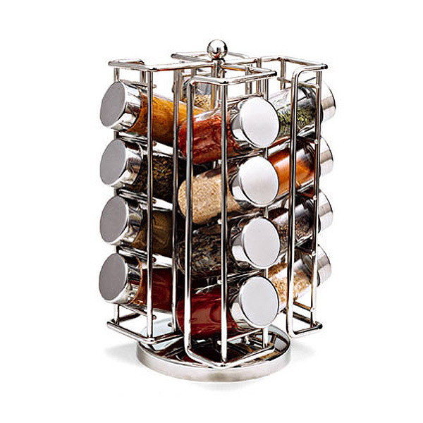 Good Q U0026 A. 3 Questions | 5 Answers. Chrome Spinning Spice Rack