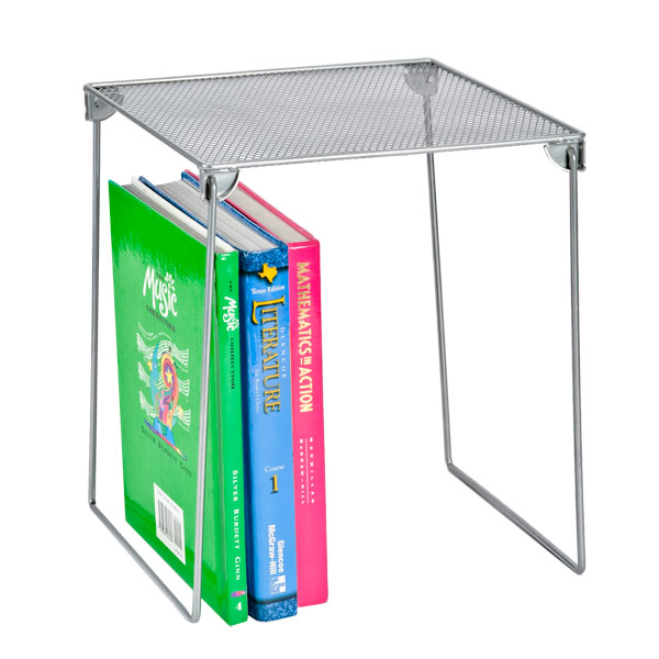 Mesh Locker Shelf Silver