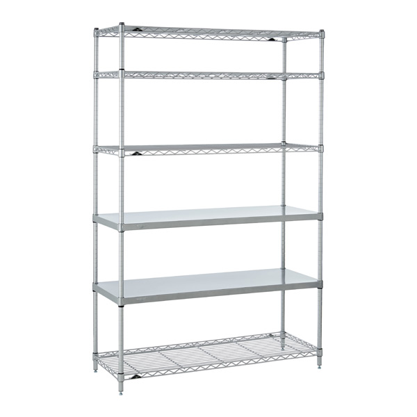 Office Shelves Silver