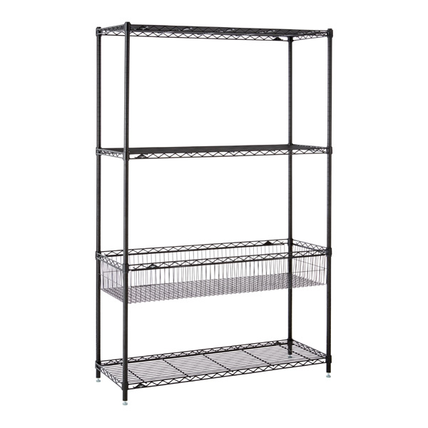 Basket Shelf Solution Black