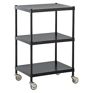 InterMetro Solid Shelf Serving Cart Black