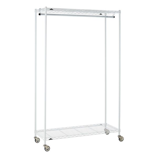 InterMetro Large Garment Rack White