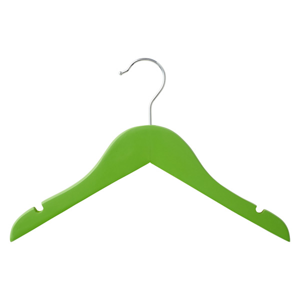 Children's Wood Hanger Green Pkg/3
