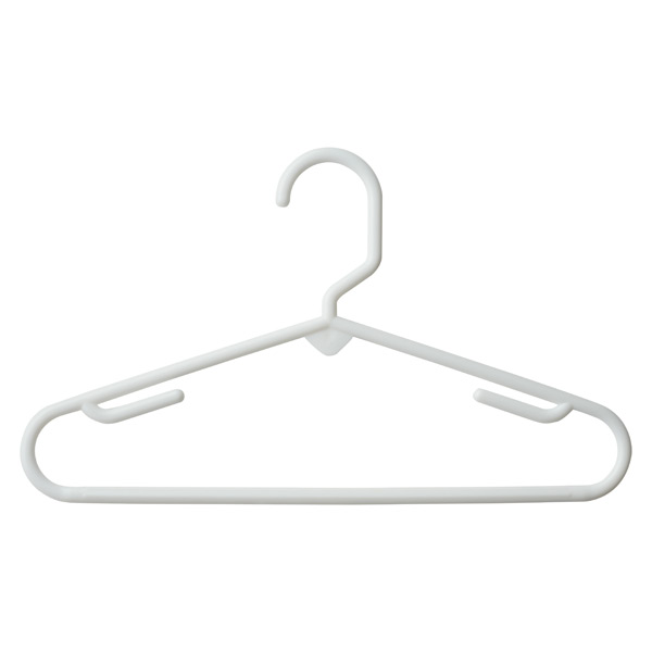 Children's Tubular Hanger White Pkg/5