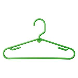 Children's Tubular Hanger Green Pkg/5