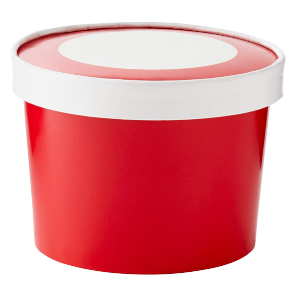 Ice Cream Pints Red Pkg/6