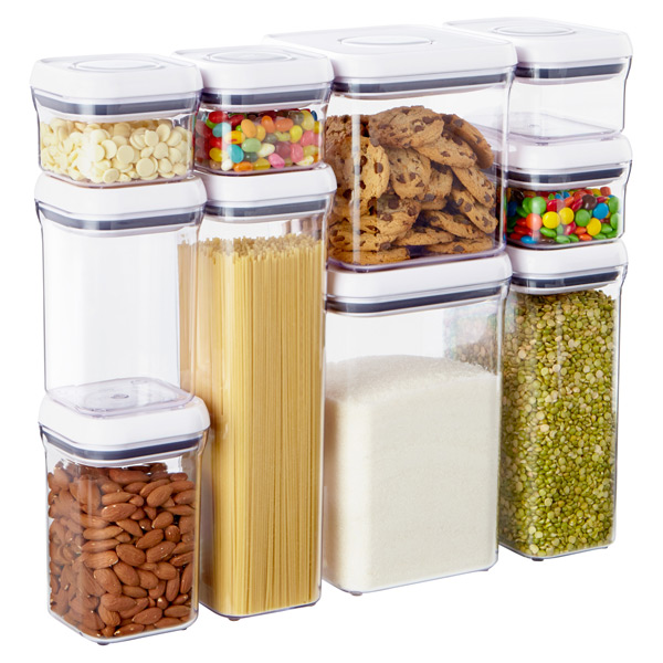 Oxo Good Grips 10 Piece Pop Canister Set The Container Store