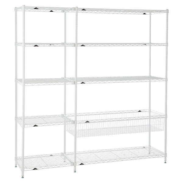 Playroom Shelving White