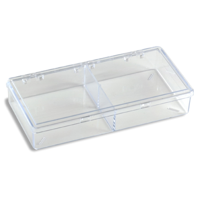 2-Compartment Box Clear